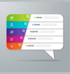 speech bubble shaped infographic design 5 options vector image