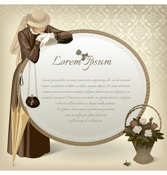 Woman with a mirror vector image vector image