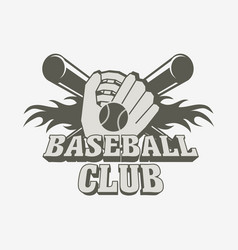 baseball logo badge or label design template with vector image