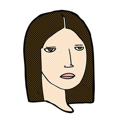comic cartoon serious woman vector image