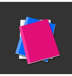 modern books on gray background vector image