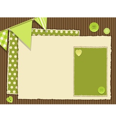 scrapbooking green layout vector image
