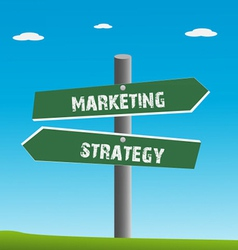 strategy and marketing traffic vector image vector image