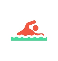 Swim Icon vector image vector image