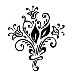 Vintage floral background with pattern of flower vector image
