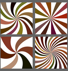 Abstract spiral and starburst background set vector