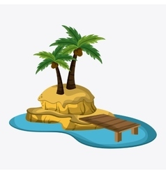 Beach design Palm tree icon Colorful vector image