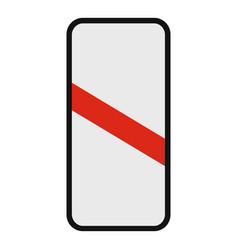 railway crossing icon flat style vector image vector image