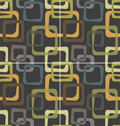 vintage pattern with cubes vector image vector image