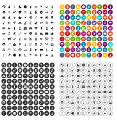100 kids activity icons set variant vector image
