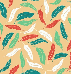 Abstract Colorful Seamless Feathers Pattern vector image