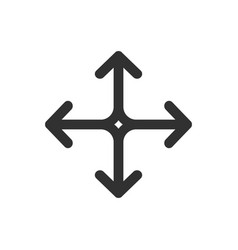 arrows in four directions icon isolated on white vector image