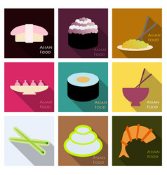 asian food background asian food poster asian vector image