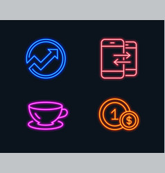 Audit espresso and phone communication icons usd vector