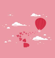 balloon love vector image vector image