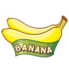 banana label vector image