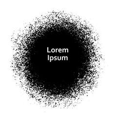 black grunge spot round vector image