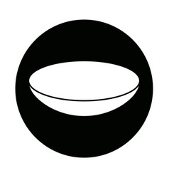 Bowl dishware prepare food kitchen utensil vector