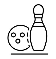 bowling recreation icon outline style vector image