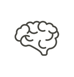 brain icon outline mind line human brain vector image