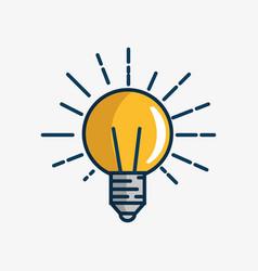 bulb light handmade drawn vector image