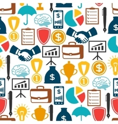 Business and finance seamless pattern from flat vector image vector image