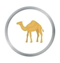 Camel icon in cartoon style isolated on white vector
