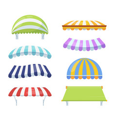 Canopy colour striped set stylish multicolored vector