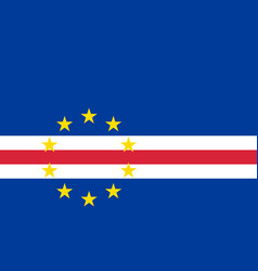 Cape verde country flat style flag vector