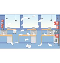 Cartoon stressful office environment vector