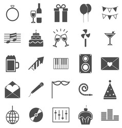 Celebration icons on white background vector image