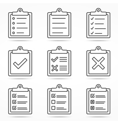 clipboard icons vector image