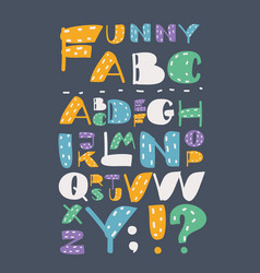colored english alphabet with capital letters vector image