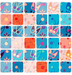 colorful seamless pattern with ornament and vector image