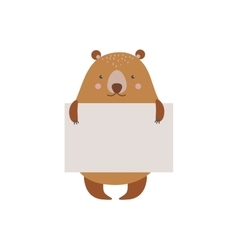 Cute animal character vector