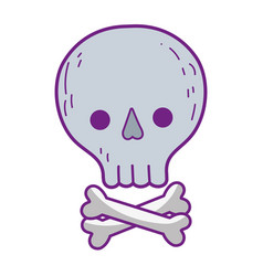 cute pirate skull icon vector image