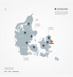 Denmark infographic map vector