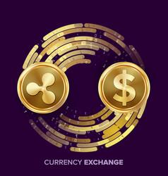 digital currency money exchange ripple vector image
