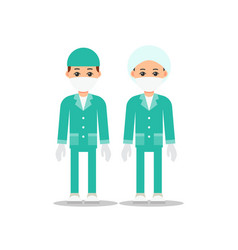Doctors doctor man and woman in uniform for vector