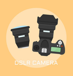 dslr photo camera top view vector image