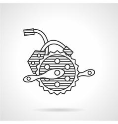 Electric bike crankset icon vector