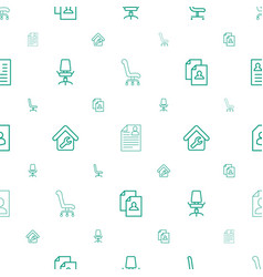 Employment icons pattern seamless white background vector
