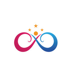Family care infinity logo and symbol vector