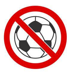flat no football icon vector image