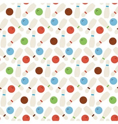 Flat Seamless Sport and Recreation Bowling Pattern vector image