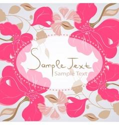 Floral background card vector image