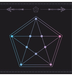 Geometric icon magic 2 vector