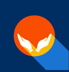 hand icon prayer symbol vector image