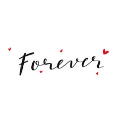 happy valentines day modern lettering vector image