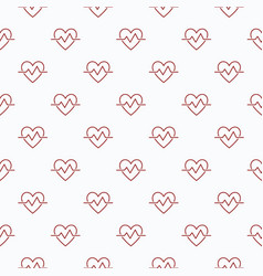 Heartbeat seamless pattern or background vector